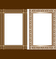 set of decorative frames in traditional celtic vector image