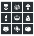 Set of Gathering in the Forest Icons vector image vector image