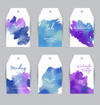 set watercolor labels design elements vintage vector image