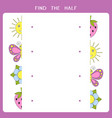 simple educational game for kids vector image vector image