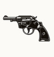 six shooter revolver vintage colorful concept vector image vector image