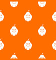smiling quince fruit pattern seamless vector image vector image