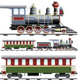 Steam train with coach vector | Price: 3 Credits (USD $3)
