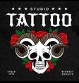 tattoo studio design poster vector image vector image