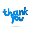 Thank You Blue Title Isolated on White Background vector image vector image