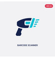 two color barcode scanner icon from e-commerce vector image