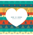 vibrant ikat stripes heart silhouette vector image vector image