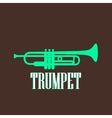 vintage with trumpet vector image vector image