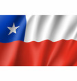 waving flag of republic chile vector image
