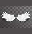 white bird angel fly wings 3d realistic design vector image vector image