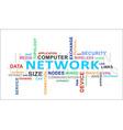 word cloud network vector image vector image