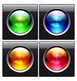 glass design elements vector image