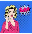 Pop Art Woman Gesturing Okay vector image