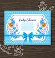 Sweet baby shower invitation vector image