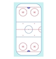Ice Hockey Rink Top View vector image