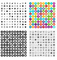 100 information icons set variant vector image vector image