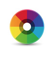 Abstract rainbow circle icon vector image vector image