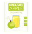 apple detox juice banner template tasty and vector image