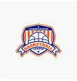 basketball club badge logo-2 vector image vector image