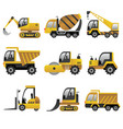 big construction vehicles icons vector image