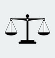 black scales balance icon vector image