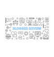 blogger review concept outline horizontal vector image vector image