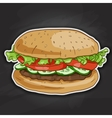 Burger color picture sticker vector image vector image