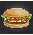 Burger color picture sticker vector image