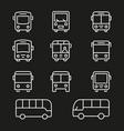 bus line icon editable stroke vector image vector image