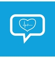 Cardiology message icon vector image vector image