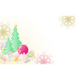 Christmas background with firs vector image vector image