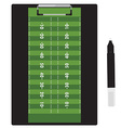 Clipboard soccer vector image