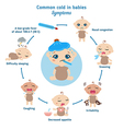 Common cold in babies symptoms vector image vector image