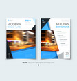 cover design for brochure flyer report catalog vector image vector image