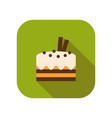cupcake flat colored icon of dessert or baking vector image