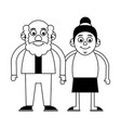 cute elderly people icon image vector image