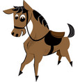 cute horse childrens vector image vector image