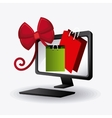 Cyber monday shopping design vector image