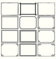 decorative simple frames set 11 vector image vector image