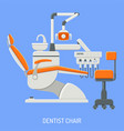 dentist chair concept vector image