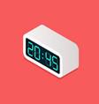 digital alarm clock isometric view vector image vector image