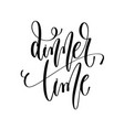 dinner time - hand lettering inscription text vector image vector image