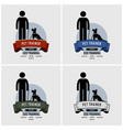 dog training logo design artwork of pet trainer vector image