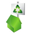 eco house symbol vector image vector image