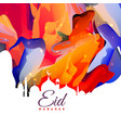 eid mubarak creative abstract background design vector image vector image