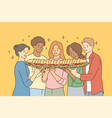 food friendship togetherness happiness vector image