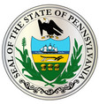 great seal of pennsylvania vector image vector image