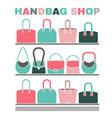 handbag shop image vector image