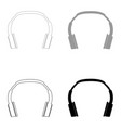 headphones the black and grey color set icon vector image vector image
