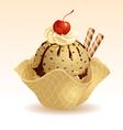 Ice cream Coffee vector image vector image